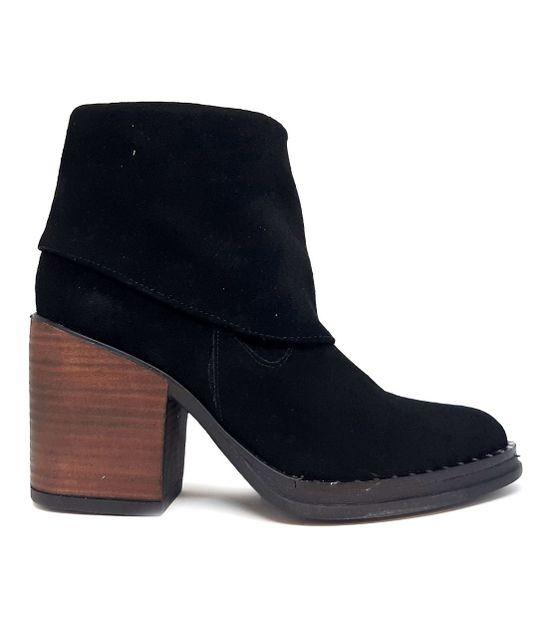Botas Zuca F6000 Cuero Gamuzado De Mujer Color: Negro - Talle: 35