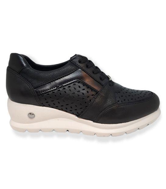 Zapatillas Cavatini 2054 Cuero De Mujer Color: Negro - Talle: 38